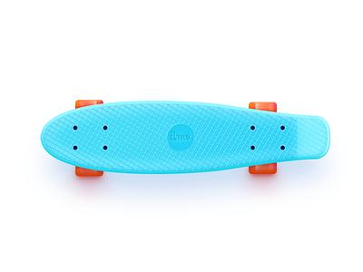 Penny Board blue board icon ui