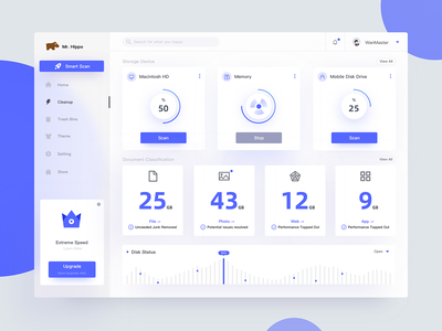 Mr  Hippo Clean ui design app