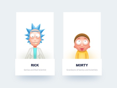 Rick and Morty illustration design ui