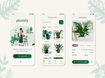 Plant Care App plants home green mobile app