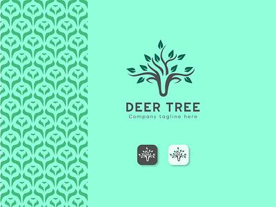 Deer Tree Concept Logo Design tree logo deer leaf tree deer leaf sketch to vector modern logo vector logo pattern deer logo nature logo logo design adobe illustration illustrator sketch ui design logo design art artwork