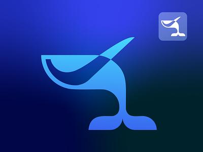 Whale logo , sea sports logo sketch brand identity branding minimal logo whale sports sports logo whater whale logo sea sports logo design logo ui illustration drowning vector art illustrator design art artwork