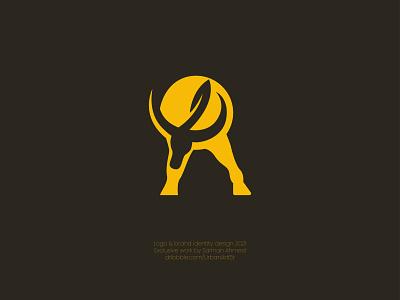 R bull logo concept , bull logo branding. illustrator design logo inspiration animal logo concept brand identity artwork sketch illustration drowning vector art design art vintage logo animal logo bull logo branding logo graphic design ui