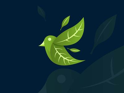 Bird leaf logo, nature bird logo concept . bird flaying logo leaf animal logo bird leaf logo nature logo logo design brand identity business identity business logo branding ui logo illustration design vector art illustrator drowning artwork design art