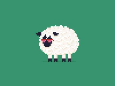 Party Sheep sunglasses farm pixel art pixelart sheep