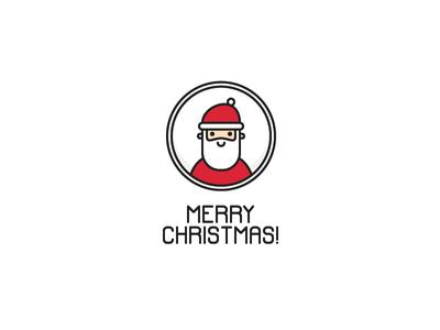 Santa character vector card greeting outline santa icon christmas