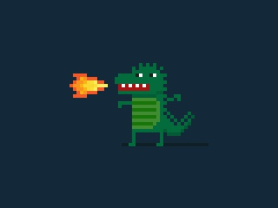 Pixel Dragon character dragon pixel art