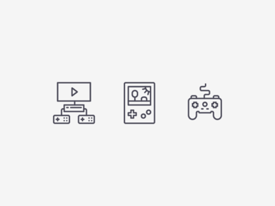 Gamer Icons console gamepad game simple line outline icon