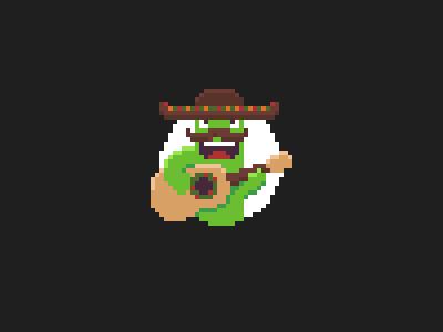 Cactus Guy guitar cactus mexican pixel art pixel