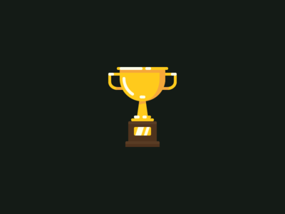 Golden Cup icon golden flat cup