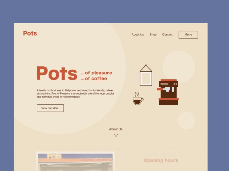 Cafe Landing Page coffeeshop coffee food restaurant cafe vector dailyuichallenge dailyui 003 dailyui ux ui