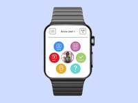 Apple Watch Instagram Design interaction dailyuichallenge vector design illustration user apple userprofile dailyui004 ux uiux ui dailyui005 dailyui apple watch instagram