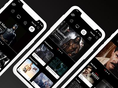 Tv App web ui design branding app