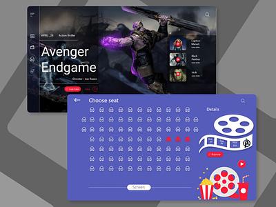 Movies Booking website type website typography graphic design art web ui design branding app