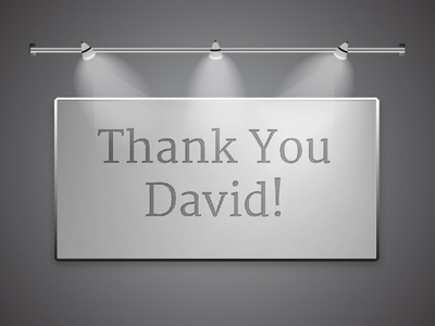 A huge thanks to Mr. David Damour!