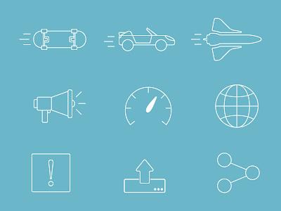 Line Icons - App Estimator vehicles line icons simple