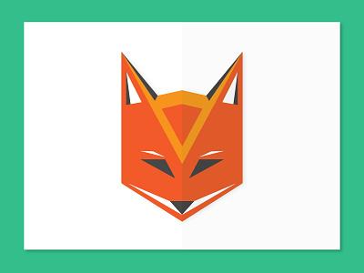 Geometric Fox low poly green orange animals fox geometric