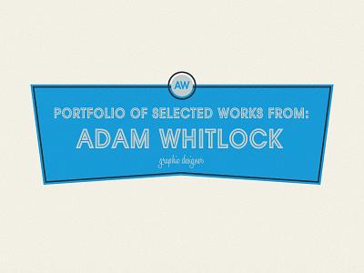Cover To Portfolio blue simple avante garde portfolio