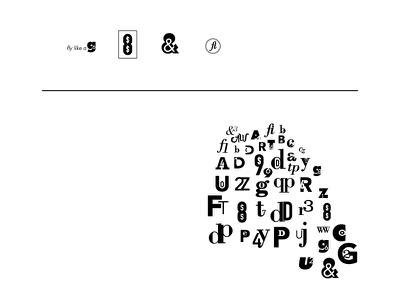 60 Letter Combos letters black and white typography