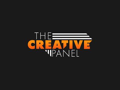 Creative Panel Logo Idea 1 bold orange white black futura