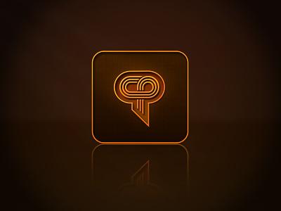 CP square brown orange icon