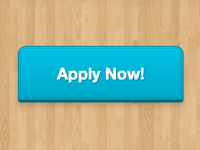 Apply. Now! blue button helvetica neue 3d wood
