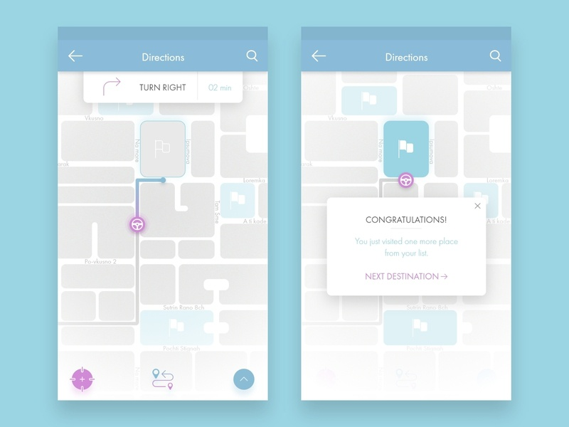 Location Tracker | Daily UI Challenge location app mobile navigation adobe xd daily ui 020