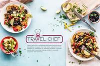 Travel chef logo design