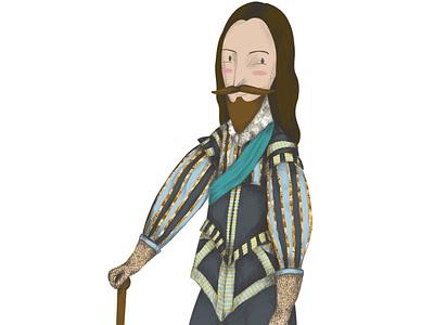 Character Design kings design digital illustration collage illustration
