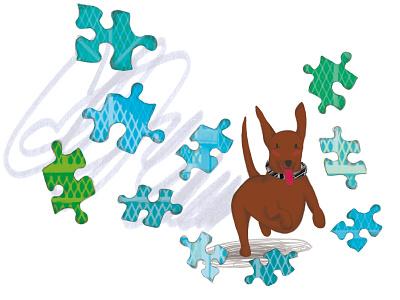 Charlie ❤️ dog dachshund illustration digital illustration collage childrens illustration childrens book children book illustration