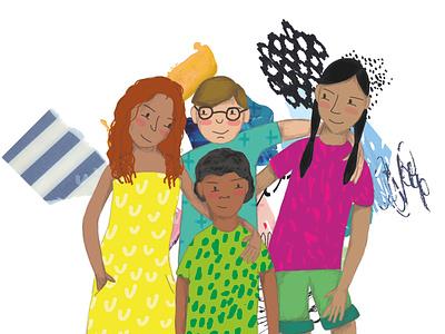 Diversity illustration digital illustration collage childrens illustration childrens book children book illustration