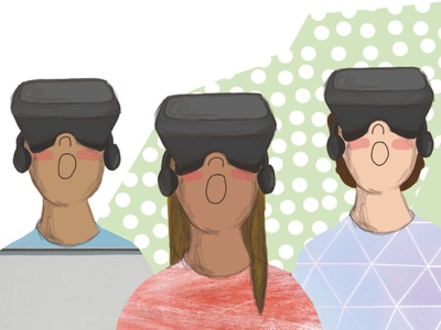 VR illustration digital illustration collage childrens illustration childrens book children book illustration