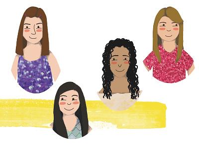 Friends friends illustration digital illustration collage childrens illustration childrens book children book illustration