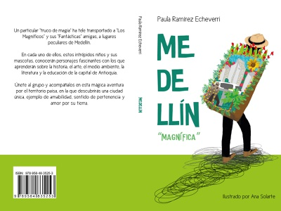 """Cover for Medellín """"magnífica"""" cover artwork illustration digital illustration collage childrens illustration childrens book children book illustration"""