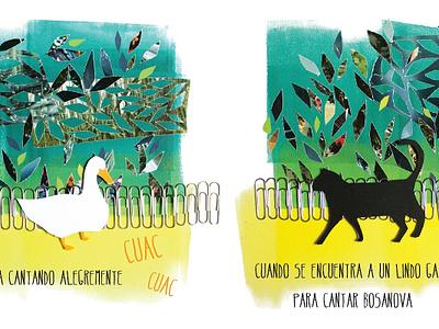 Collage childrens book children book illustration collage