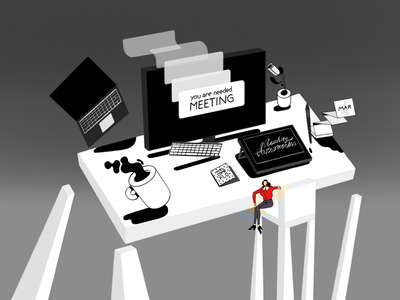 New job: Illustrator mac wacom coffee happy work illustrator office desk new job peakon