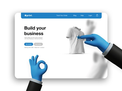 Aprint Concept - POD branding minimal web ux ui design