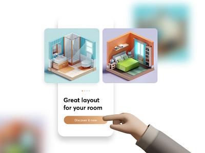 Interior Layout Concept art graphic design design branding website illustration icon app ux ui