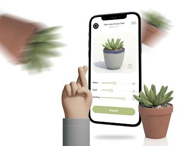 Take Care Of Your Trees   App Concept vector minimal illustrator illustration icon graphic design art app ux design