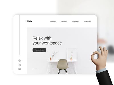AWD - Furniture Design Concept branding web ui minimal graphic design ux design