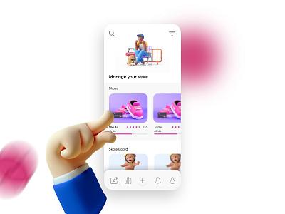 Store Manager Concept Design design vector ui app sketch simple store