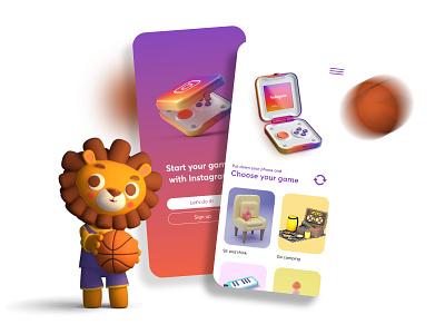Easy Game With Instagram :) app vector icon graphic design ui design