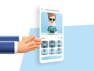 Upload Your Awesome Picture illustration icon ux app design ui