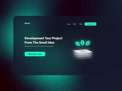 Devit. logo simple web minimal illustration graphic design ux design ui