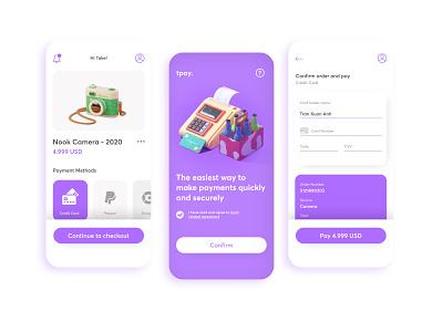 Tpay - Payment Concept app simple illustration ux graphic design ui design