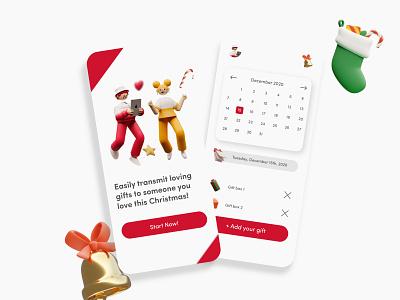 Give A Gift App - Concept logo minimal flat app ux simple illustration graphic design ui design