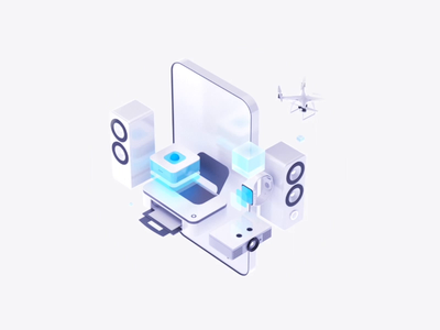 Products illustration artificial intelligence help onboarding building 3d art icons ui ai c4d aep 3d motion animation illustration art ecommerce products illustration