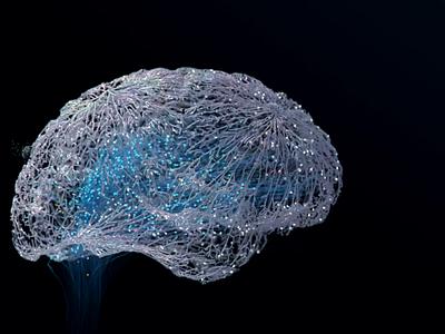 Brain visualization art visual branding illustration c4d brains procedural generative white dark future science neural brain animation 3d motion