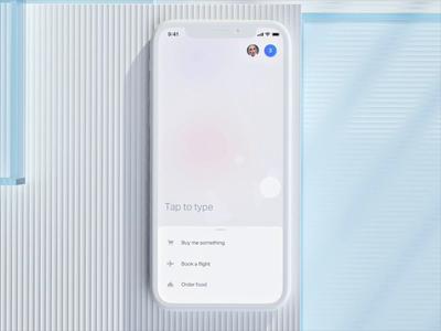 Natural AI app design iphone simple immersive listening box artificial intelligence voice landing home c4d ux ios app natural beta
