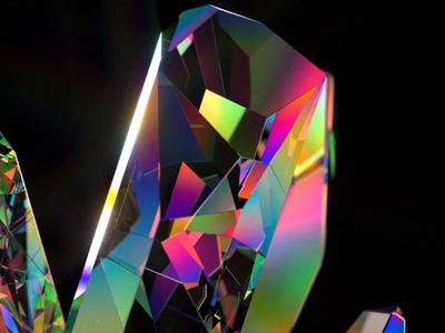 Crystal shine branding luxury branding and identity brand identity branding design branding illustration c4d motion animation 3d clean art direction artwork crystal ball art creative crystals colors color